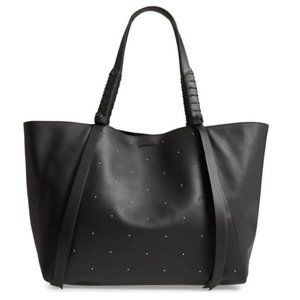 AllSaints Kathi Studded Leather East/West Tote